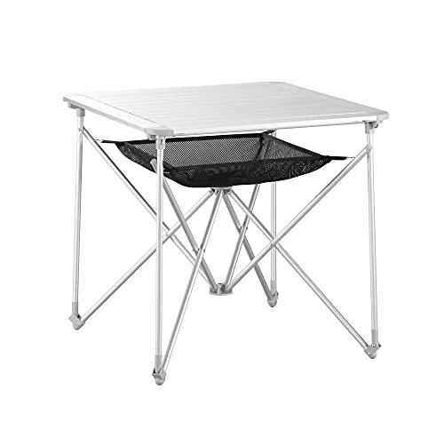 Uquip Mercy - Mesa Camping Plegable de Aluminio...