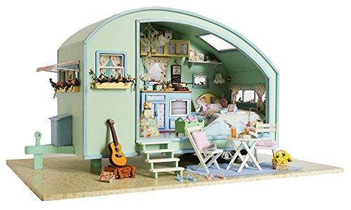 Lemogo Kit de casa de muñecas de Bricolaje casa...