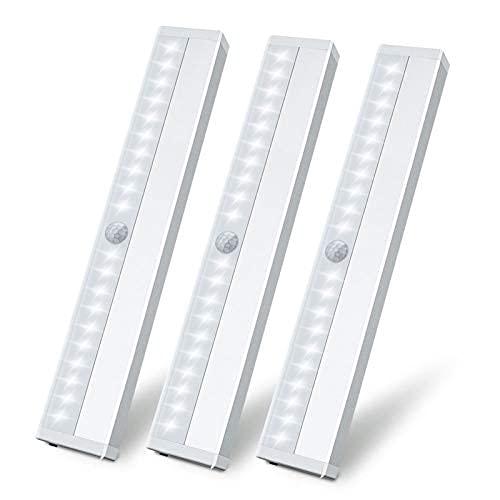 3 Pack 20 LED Luz Nocturna Sensor de Movimiento...