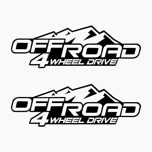 Autodomy Pegatinas 4x4 Off Road 4 Wheel Drive...