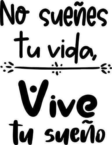 CrisPhy® Frase Vinilo'Vive tu sueño' Vinilos...
