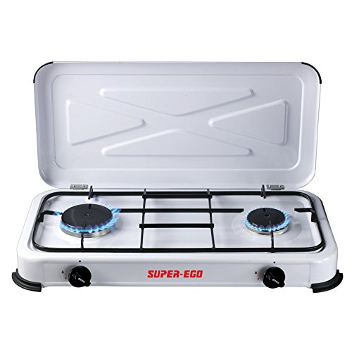 SUPER EGO SEH024800 Cocina Gas portátil, Blanco,...