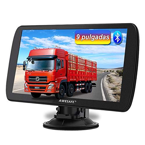 AWESAFE 9 Pulgadas Navegador GPS para Camiones y...