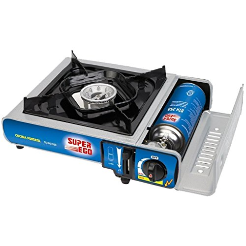 SUPER EGO SEH003300 Cocina cartucho gas portátil,...