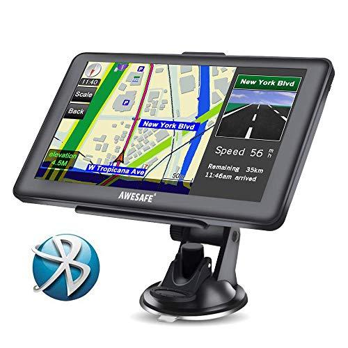 AWESAFE GPS para Coche de 7 Pulgadas Pantalla con...
