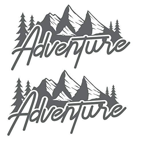 Juego de 2 pegatinas de vinilo adhesivo Adventure...