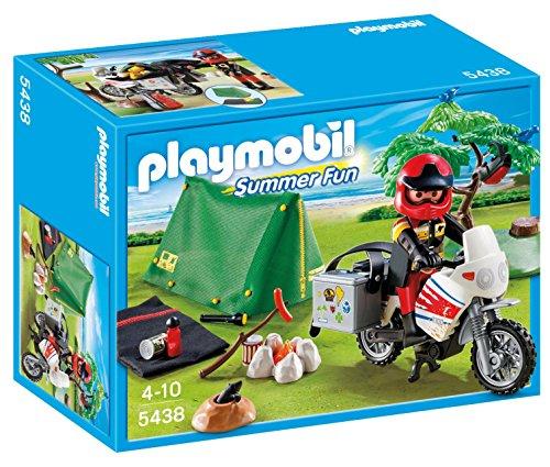 PLAYMOBIL Vacaciones - Motorista con Tienda de...